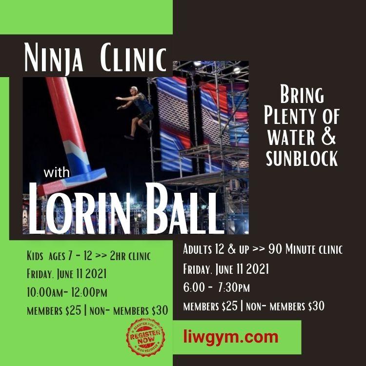Ninja Warrior Clinic Flyer